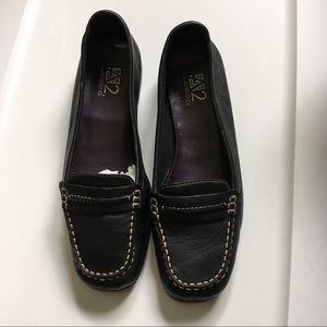 A2 by Aerosoles black leather loafer